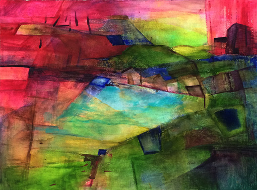 carol readman nz abstract watercolour artist