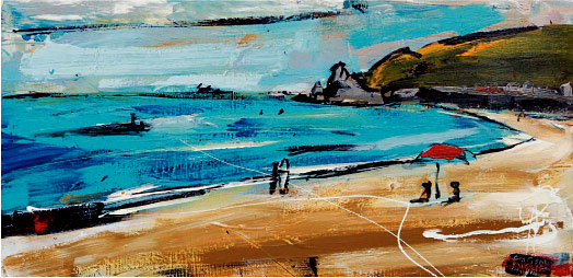christian nicolson nz contemporary artist, pop art, beach paintings