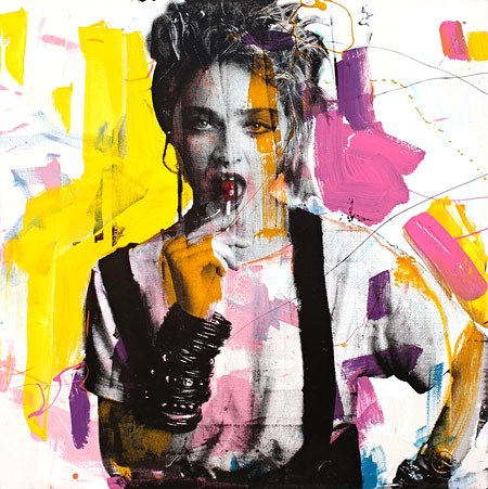 Christian Nicolson nz pop art, madonna