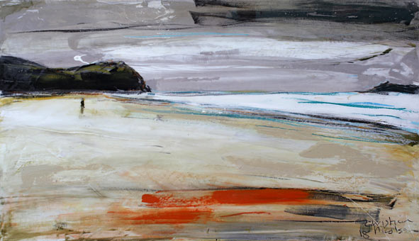 Christian Nicolson nz abstract landscape artist, opoutere north, acrylic on board
