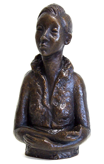 heather grouden nz bronze sculptor, figures