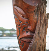 joe kemp carved maori masks