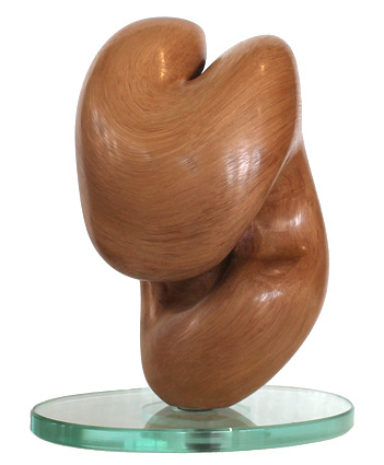 John Allen nz wood sculptor, heart, pohutukawa