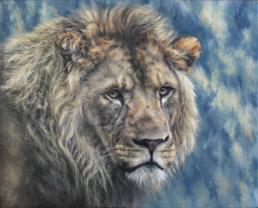 Jules Kesby lion painting