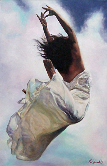 Kellie Edwards nz figurative artist, dancers, oil painting