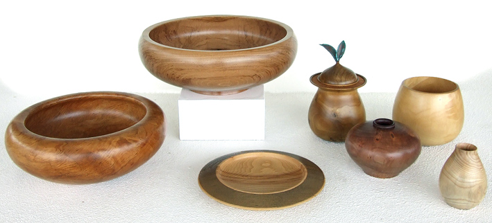 rene baxalle nz woodturning, rimu bowls, kauri, native wood