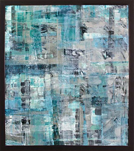 Rosemary Eagles NZ abstract artist, paintings on linen