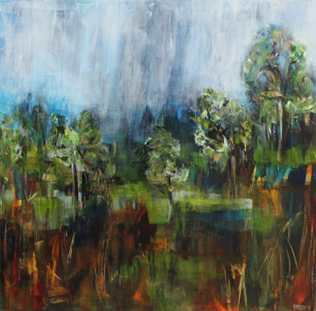 Rosemary Eagles nz contemporary landscape art, wetlands