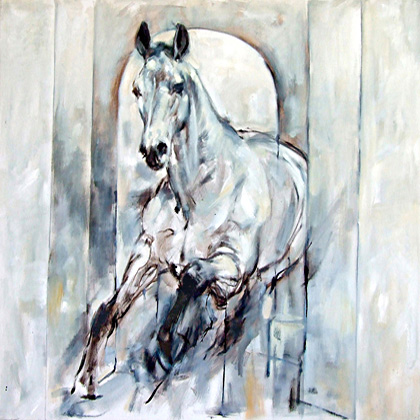 rosemary parcell nz equestrian and dressage artist, oil paintings