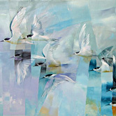 NZ birds in art exhibition, sheila brown and Nicky Thompson