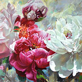Zoe Feng NZ fine art rose paintings