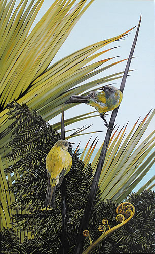 Kirsty Nixon nz ladnscape art, fronds