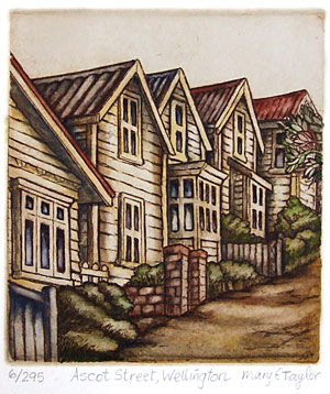 mary taylor nz heritage buildings etchings