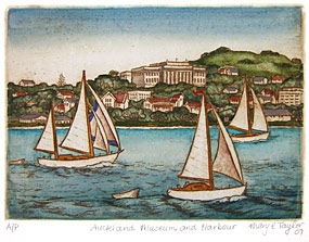 mary taylor auckland harbour print
