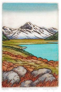 mary taylor mount cook print fine art etching