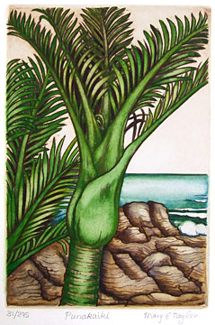 mary taylor punakaiki etching and fine art print
