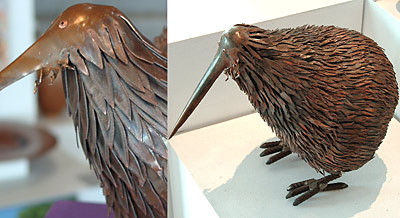 copper kiwi sculpture