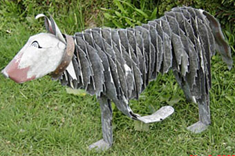 corrugated iron sheep dog