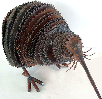 corrugated iron animal sculpture